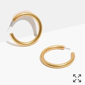Madewell chunky oversized hoop earring